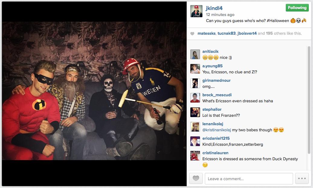 Jakub Kindl S Halloween Instagram Photo Is Awesome