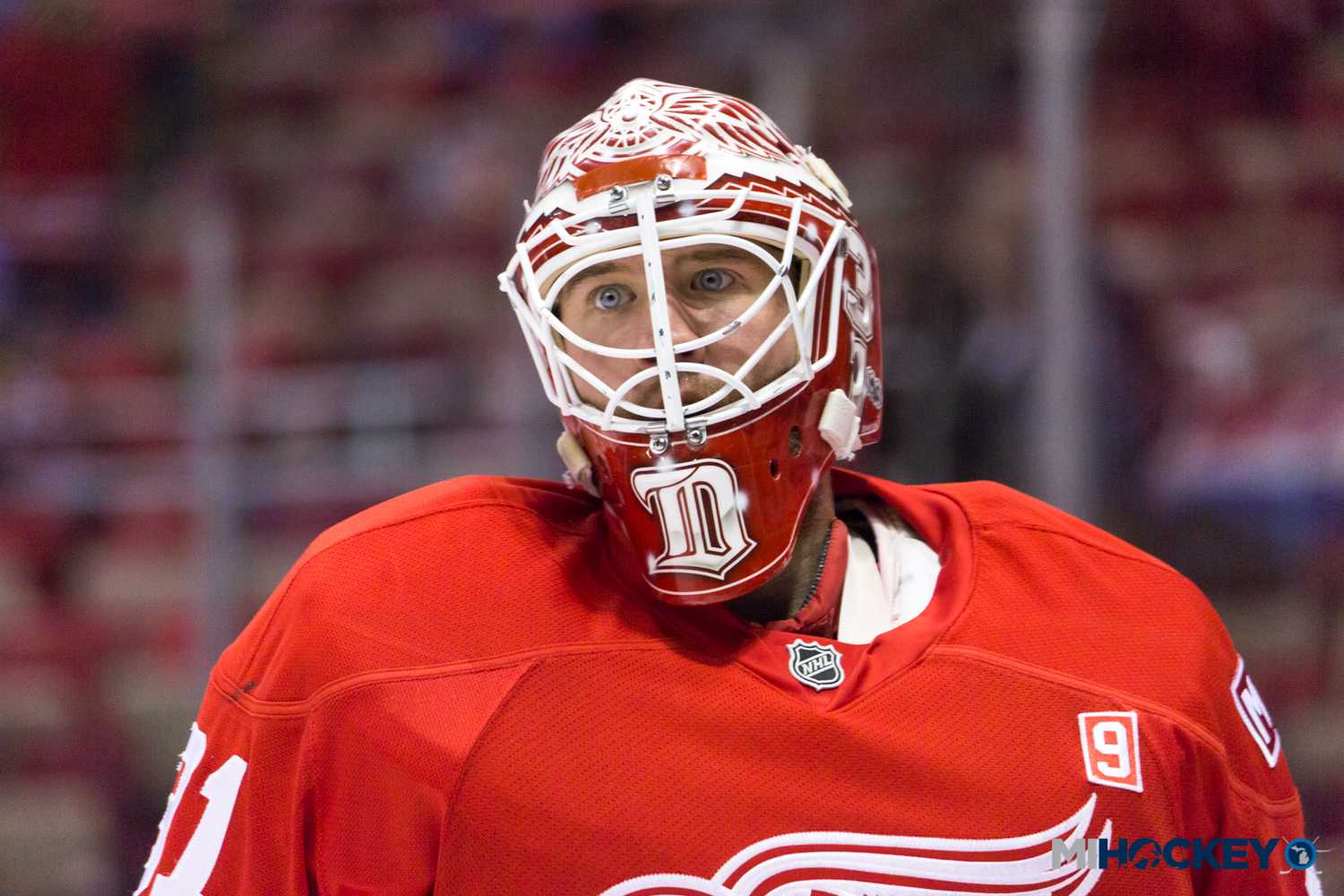 Red Wings recall Jared Coreau from Grand Rapids