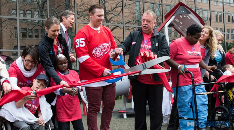 'Red Wings Play Zone' unveiled at Children's Hospital of Michigan in Detroit