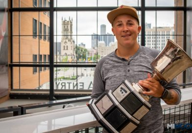 VIDEO: Madison Packer brings NWHL's Isobel Cup to Little Caesars Arena