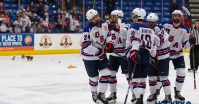 PHOTOS: Team USA beats Maine on Teddy Bear Toss Night