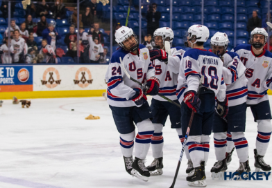 PHOTOS: Team USA beats Maine on Teddy Bear Toss Night