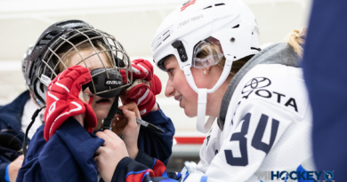 U.S. Women's National Team players lend helping hands during girls open skate in Detroit