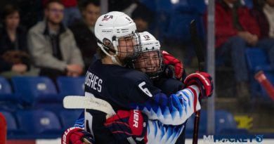 Jack Hughes, Cole Caufield both score four in Team USA's win over Slovakia at U18 Worlds