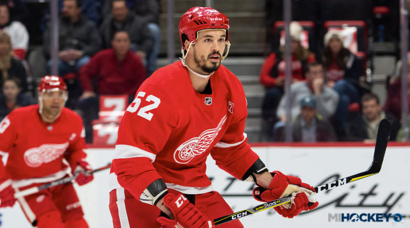 Red Wings assign Jonathan Ericsson to Grand Rapids; recall Biega