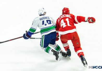 PHOTOS: Red Wings host Hughes, Motte and the Canucks