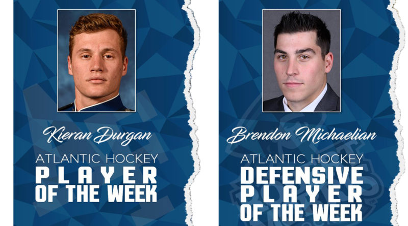 Durgan, Michaelian earn Atlantic Hockey weekly honors