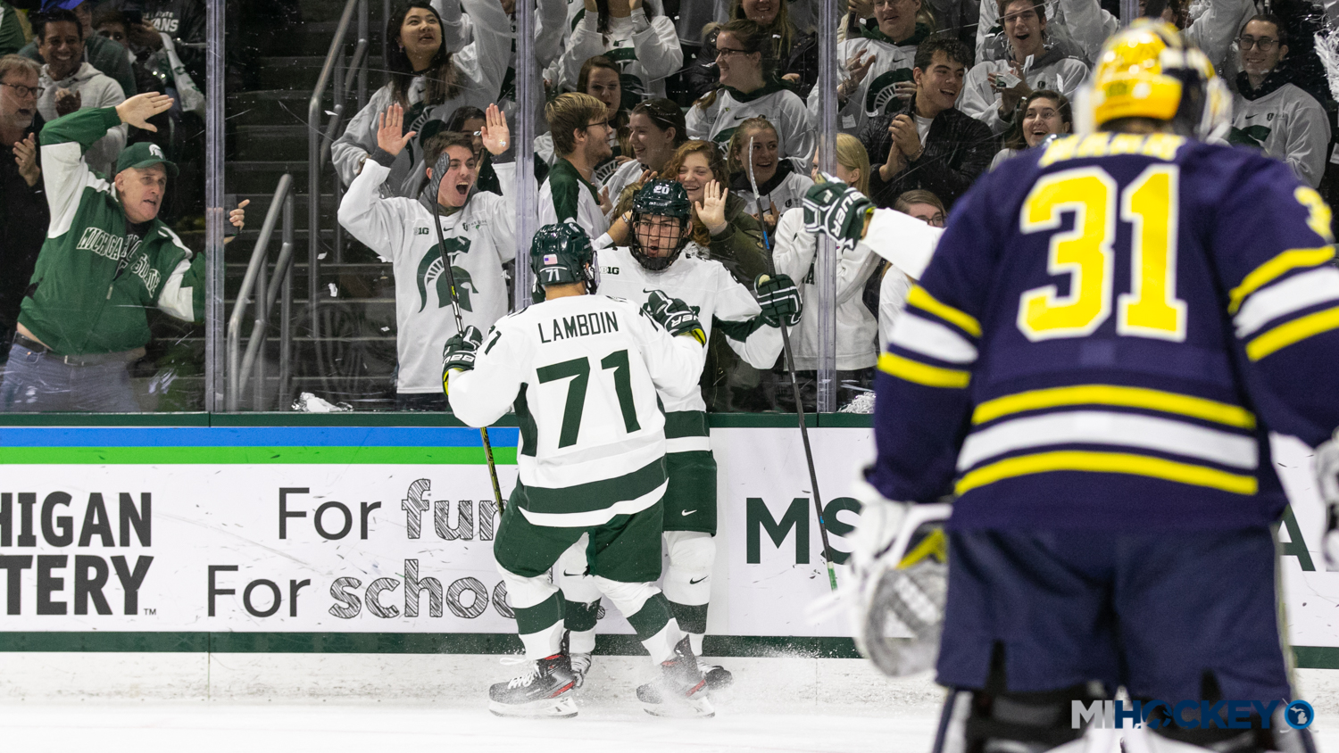 Spartans Sweep Wolverines With Saturday Night Shutout