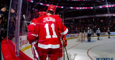 PHOTOS: Red Wings snap losing skid with win over Winnipeg