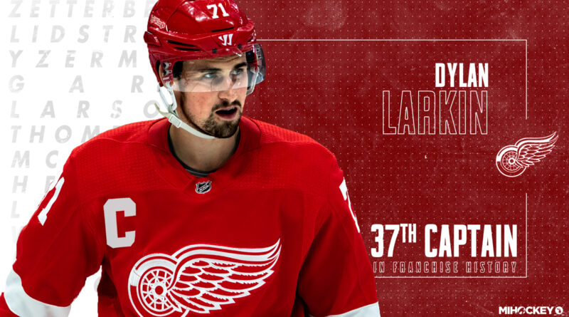 Dylan Larkin named 37th captain in Detroit Red Wings franchise history